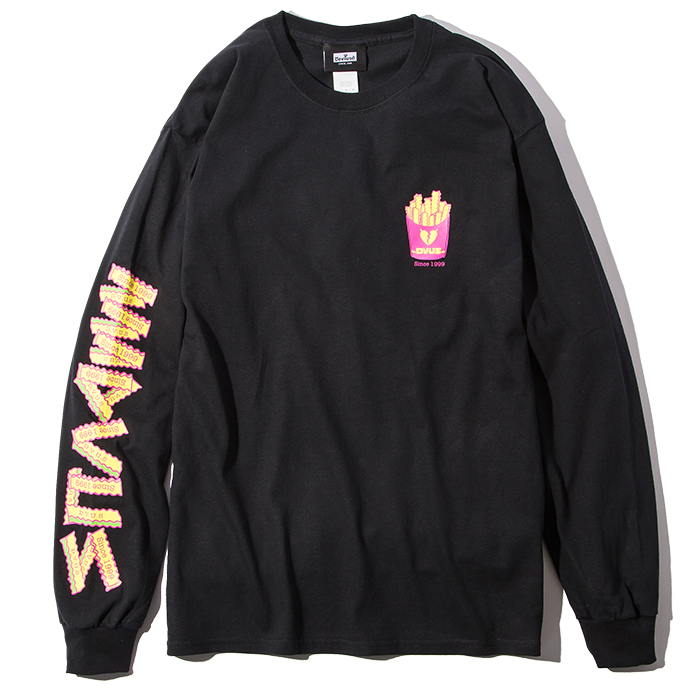 Deviluse(デビルユース) | Fries L/S T-shirts(Black)