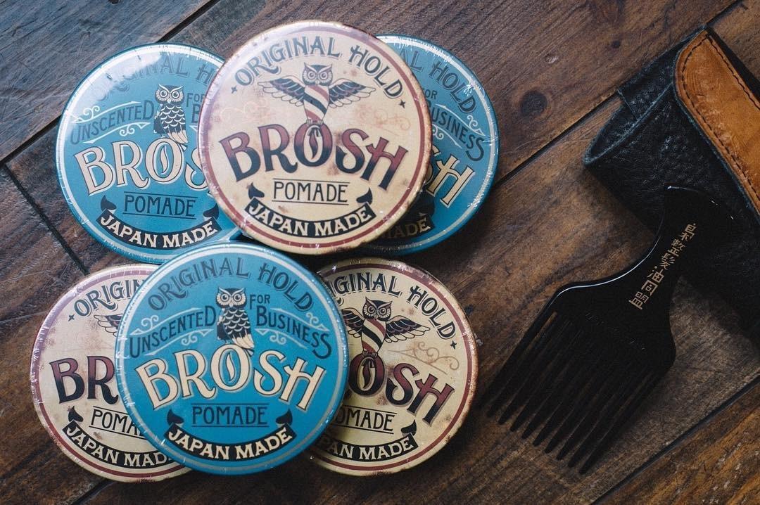 BROSH ブロッシュ ポマード 卸売決済用 オリジナル+フォービジネス(無香料) ハーフ&ハーフ