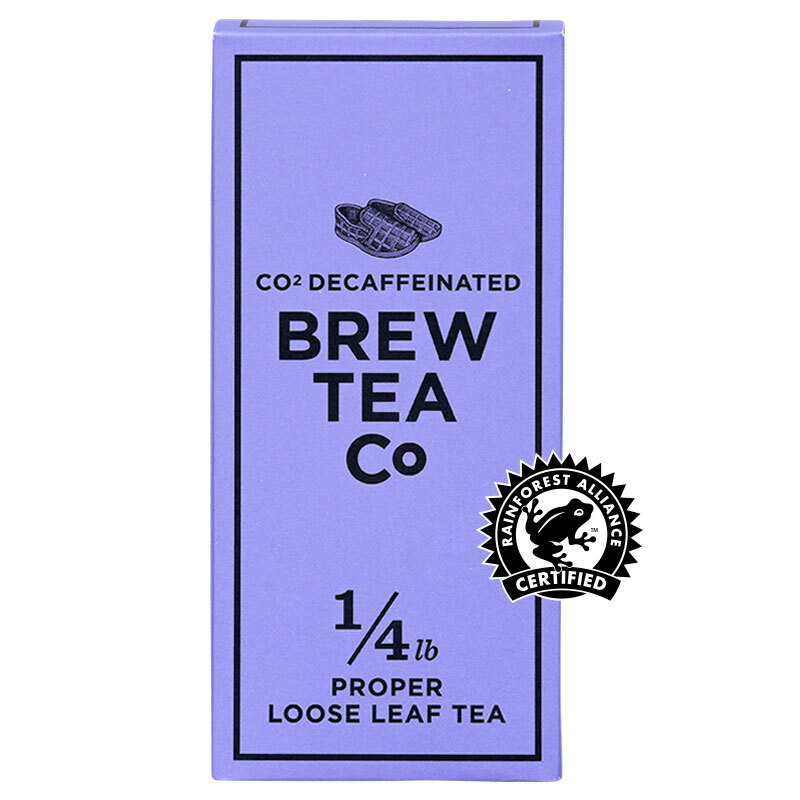 BREW TEA Co. ブリューティーカンパニー leaf tea 茶葉 113g 箱入り CO2 Decaffeinated CO2 デカフェ