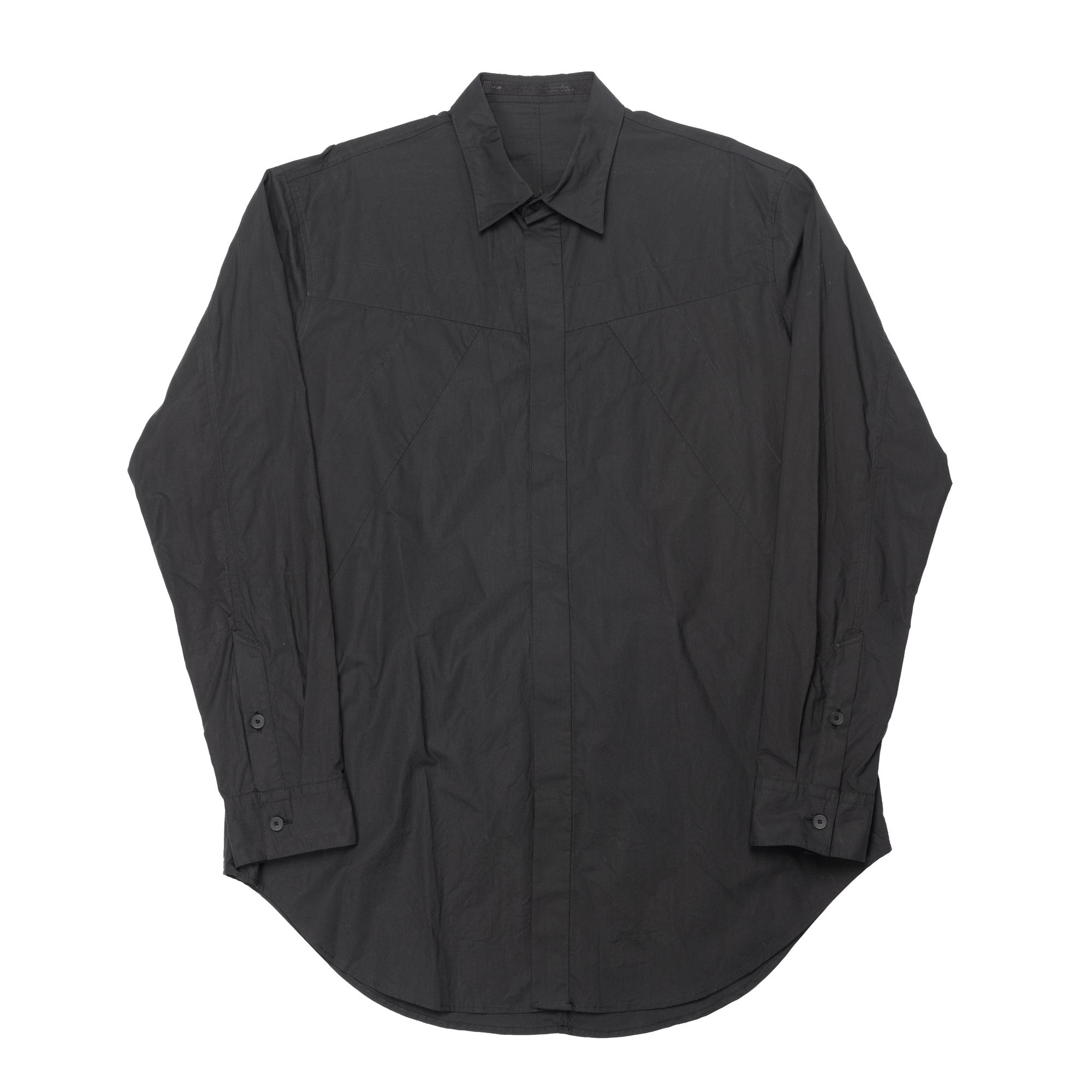 647SHM4-BLACK / シームドシャツ
