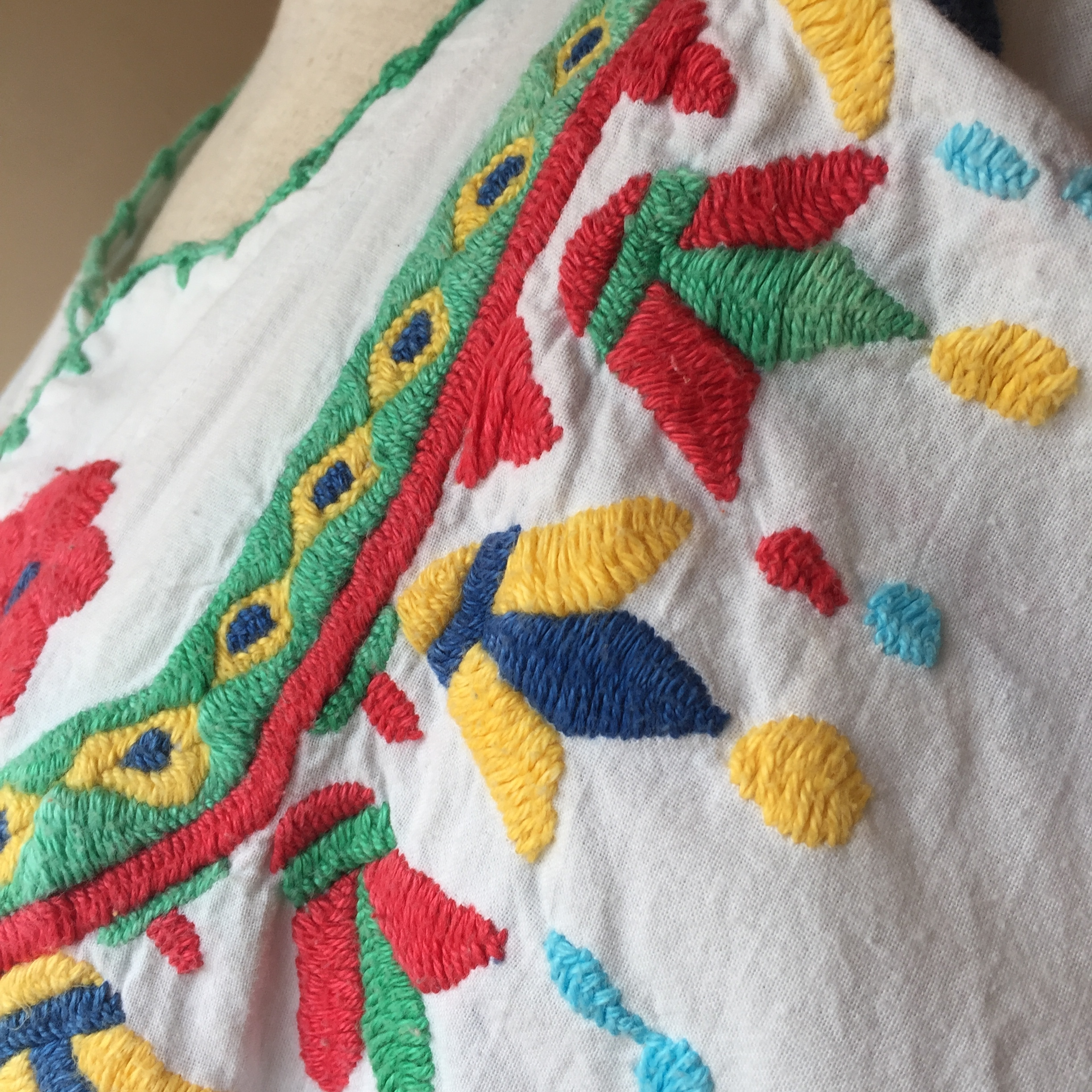 vintage mexican embroidery onepiece