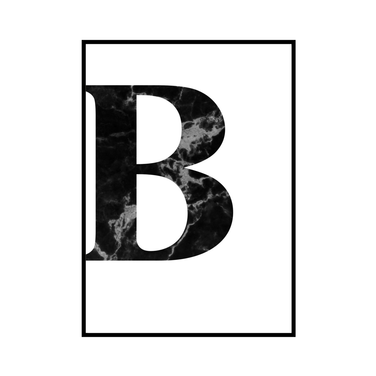 """B"" 黒大理石 - Black marble - ALPHAシリーズ [SD-000503] A1サイズ ポスター単品"