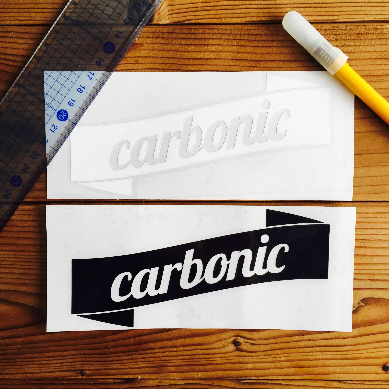 carbonic RIBBON cutting sticker (L)