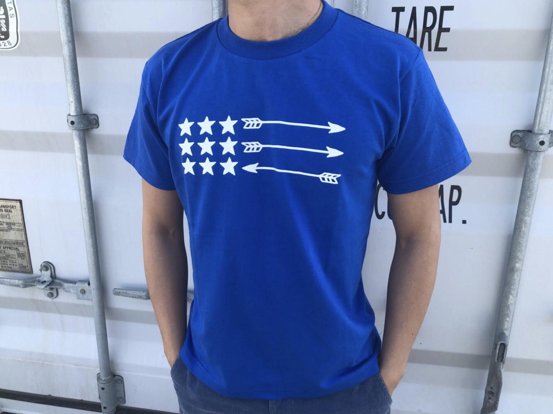 USA ArrowFlag Tシャツ(royal blue)
