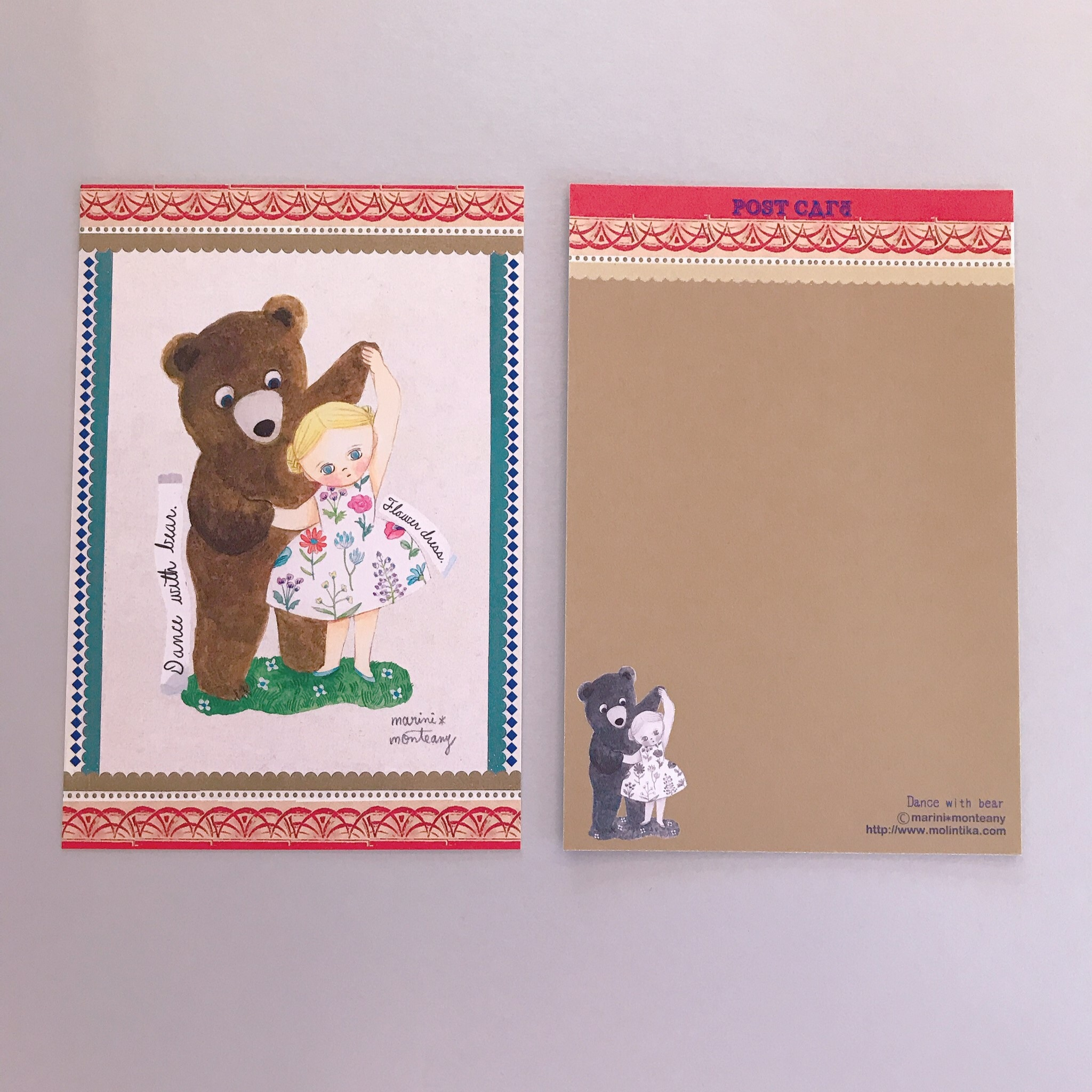 POST CARD「Dance with bear」no.143