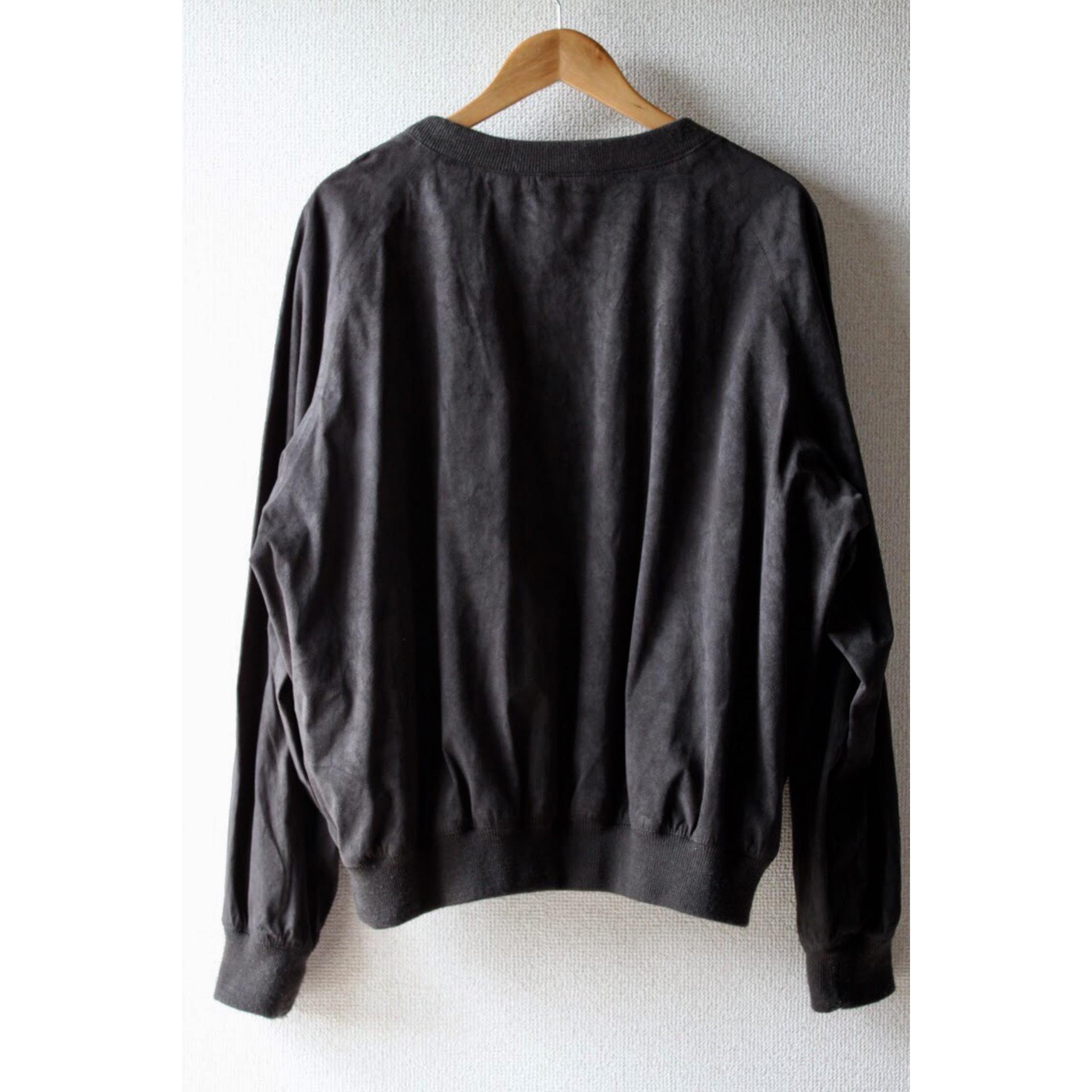 Vintage fake suede pullover jacket