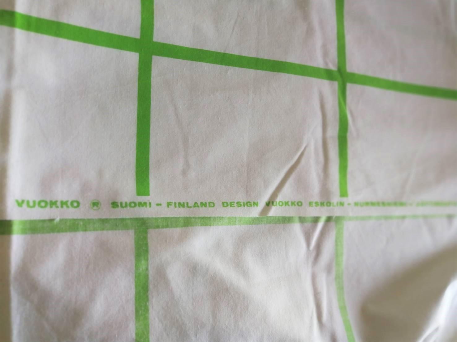 [マルチカバー] ファブリック / Vokko / Jaattiruutu-73 /  (2,120x142cm) 1973年オリジナル