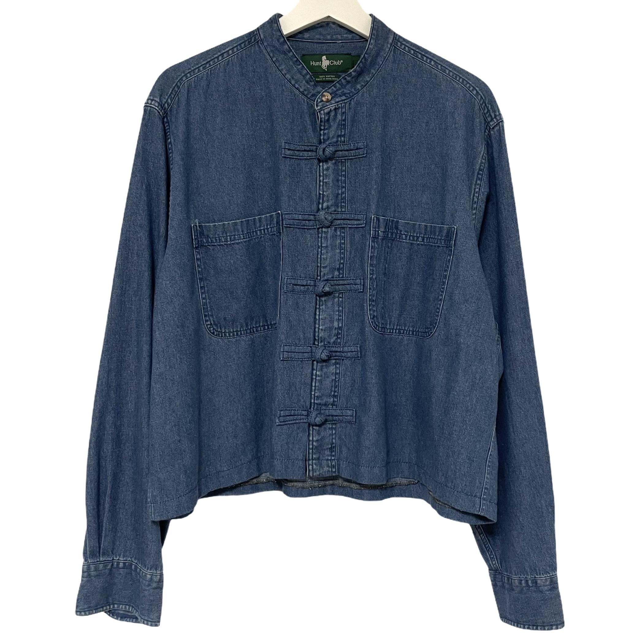 Remake China Shirt 【 Denim Blue Short 】