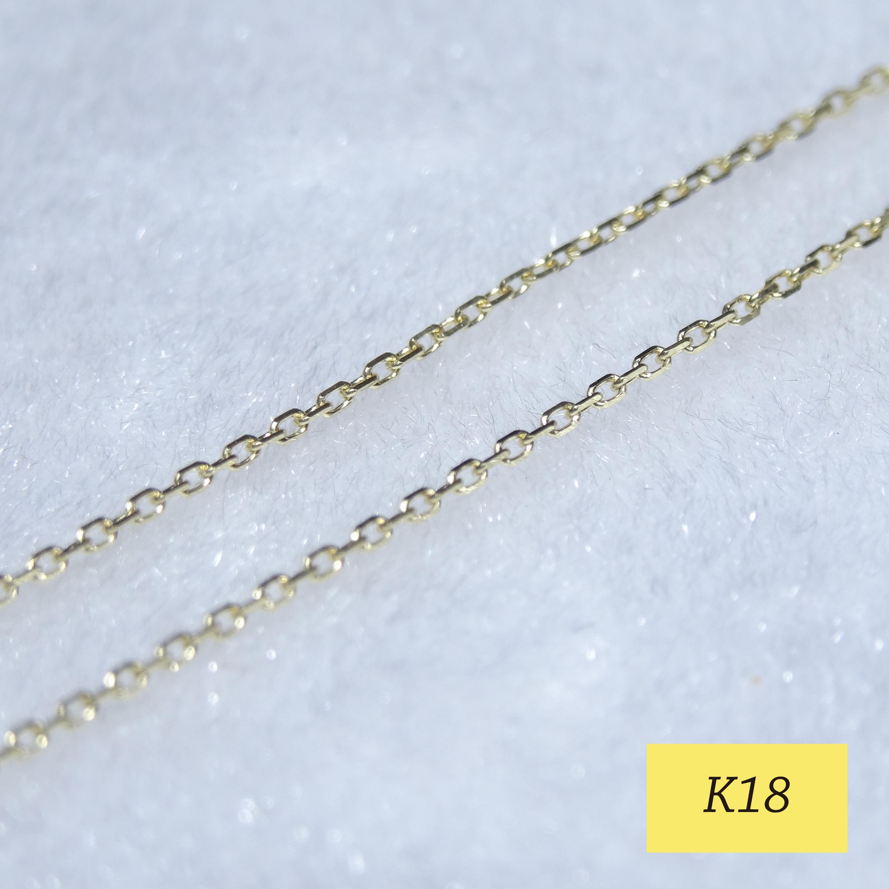 1.0mm幅 K18カットアズキ