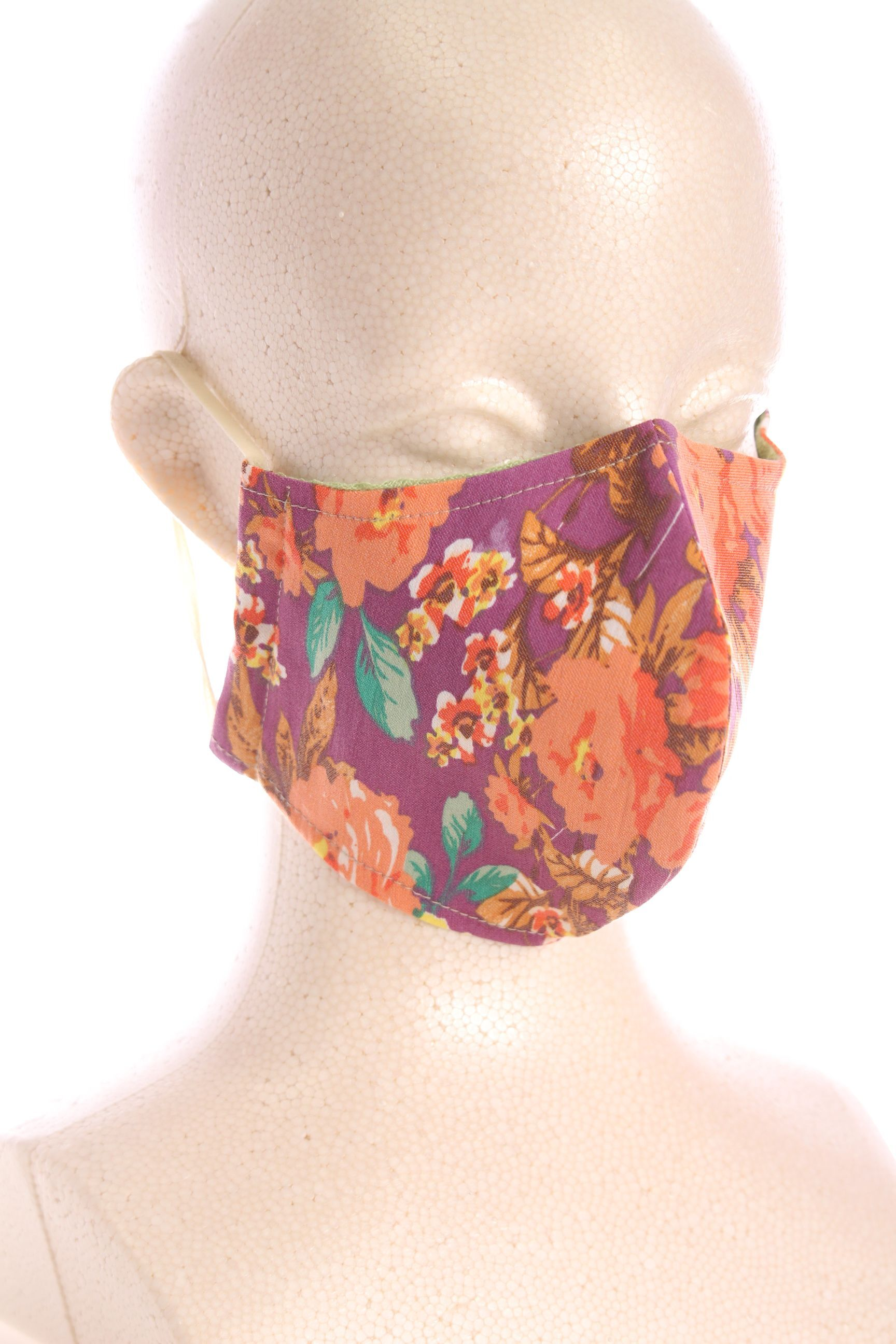 マスク花柄C
