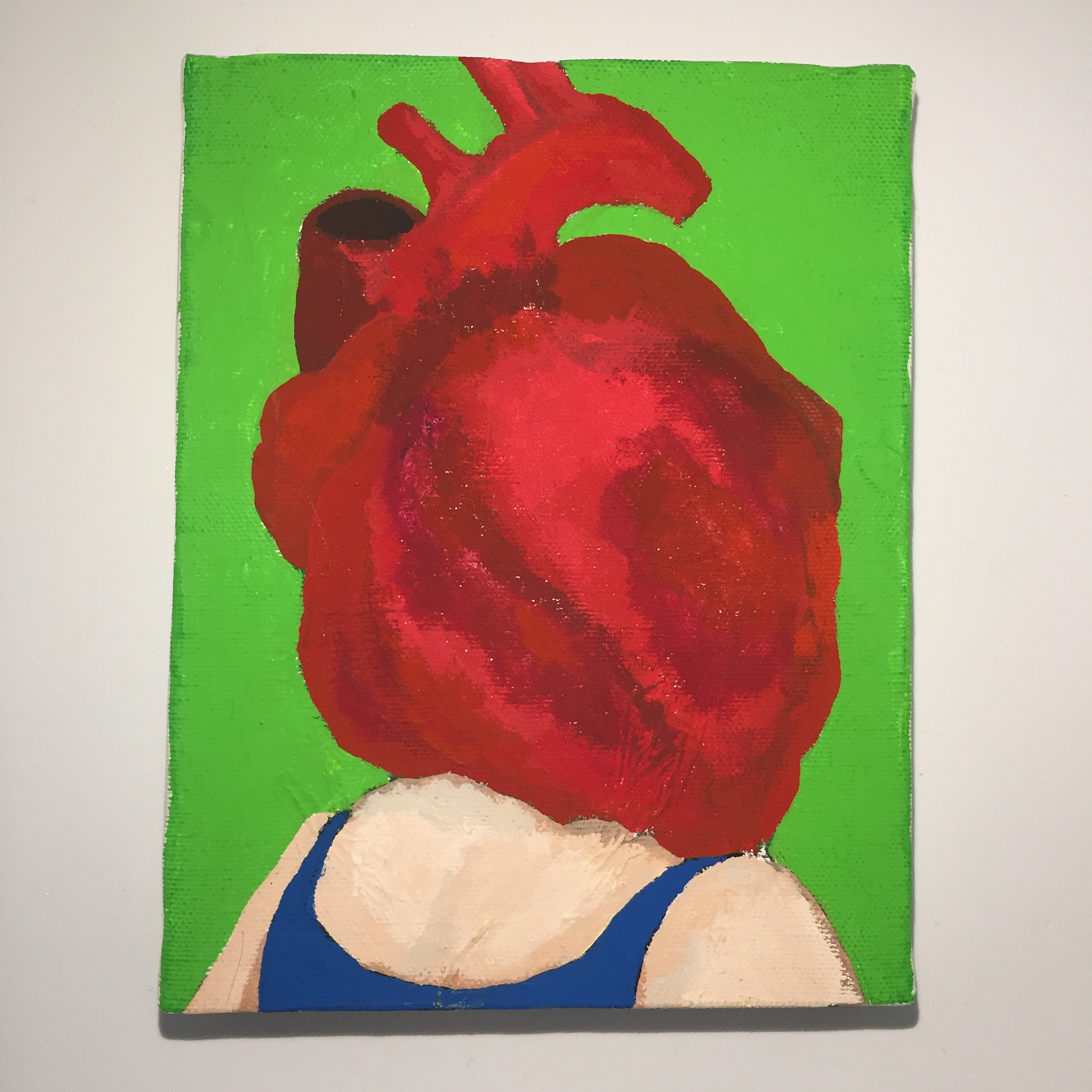HEART HUMAN #4 /18cm×14cm/Acrylic painting/ Original Drawing