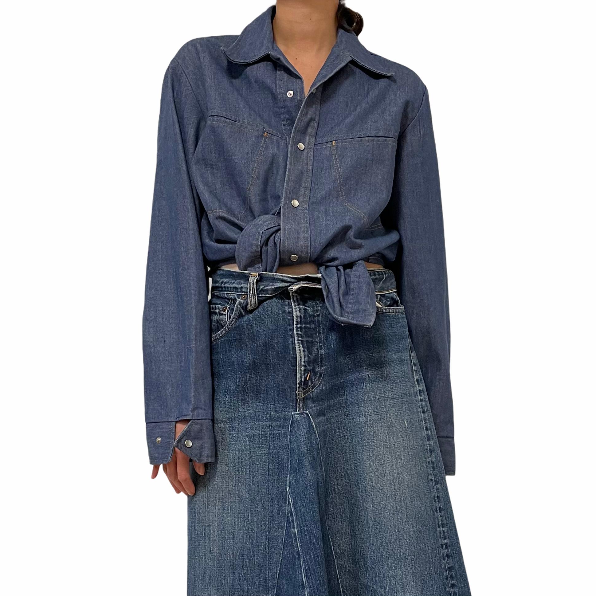 70's  TOBIAS TREND Denim Western Shirt