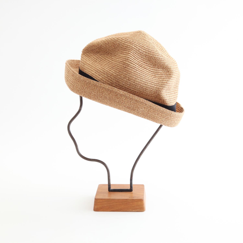 mature ha./BOXED HAT 104 mixbrown×black