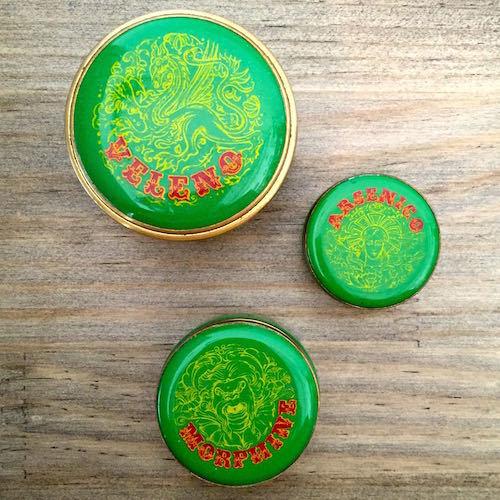 """Green """"Poison Boxes"""" 3pcs Set"""