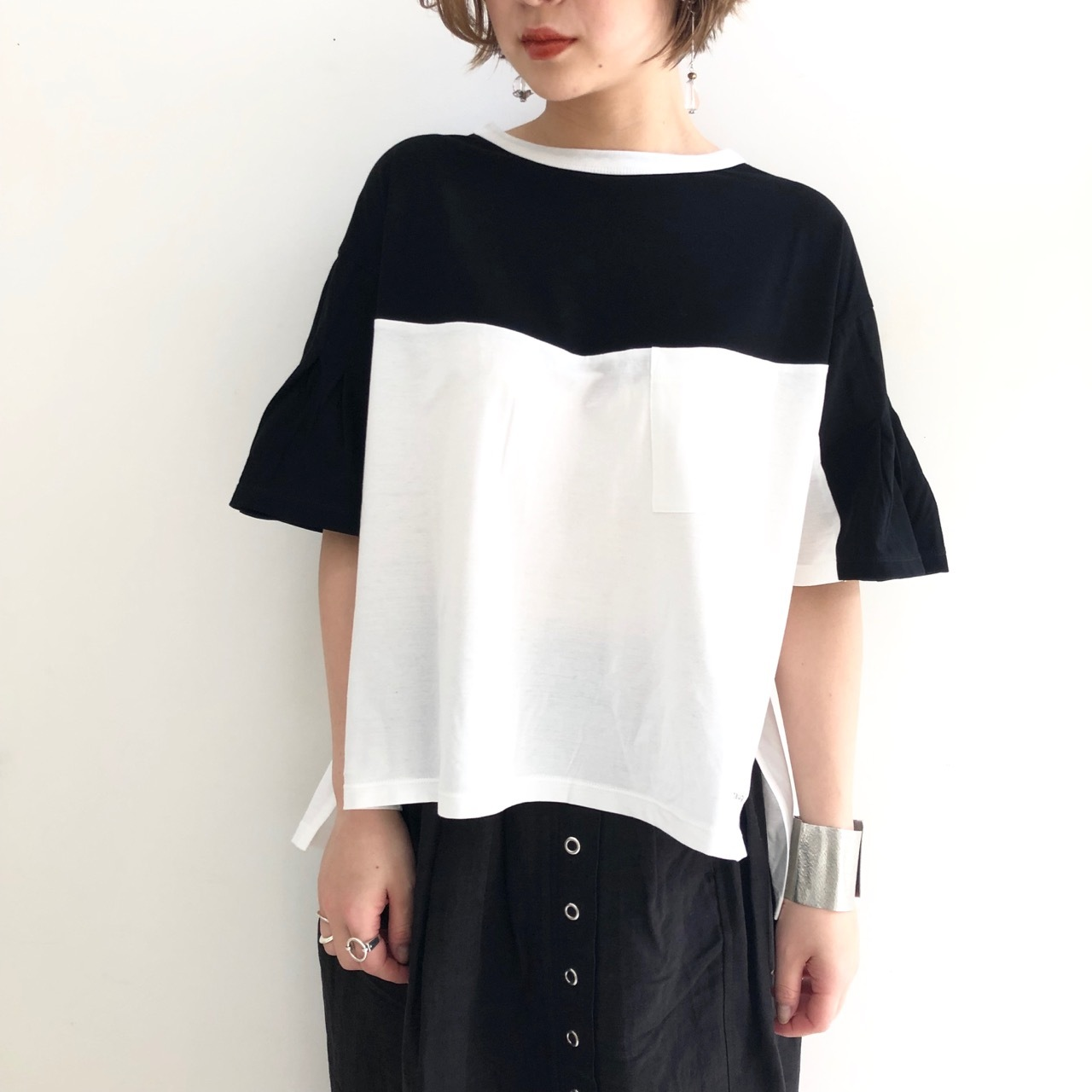 【 ANTGAUGE 】- AB824 - バイカラーTeeシャツ
