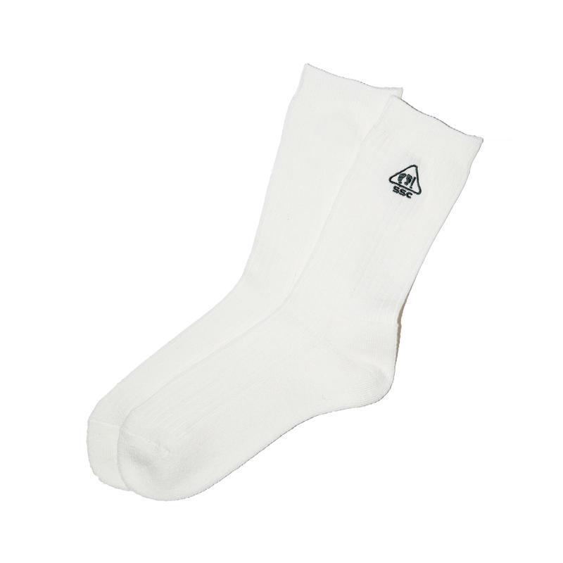 SURFSKATECAMP #Rib Pile Socks White
