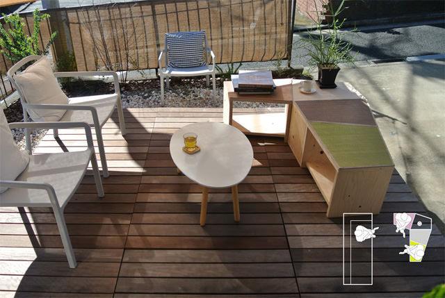 LAND - Center table bench / センターテーブル兼ベンチ