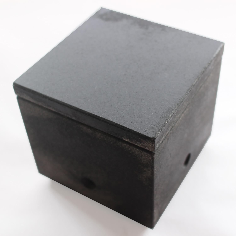 石の炙り鉢 蓋皿付き Sサイズ(黒)