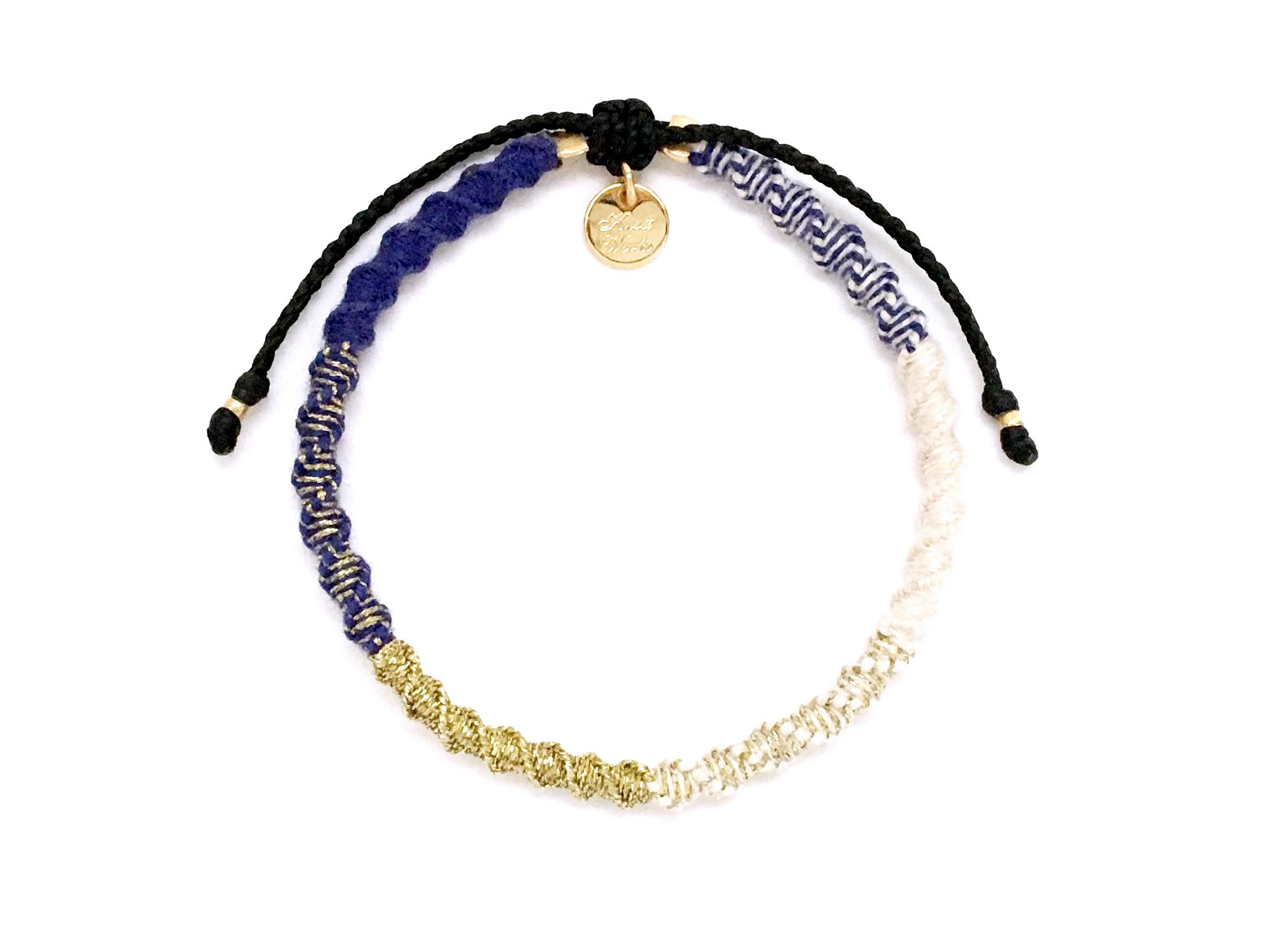 Check Patterned Bracelet/Royal Blue[チェック柄ミサンガブレスレット]