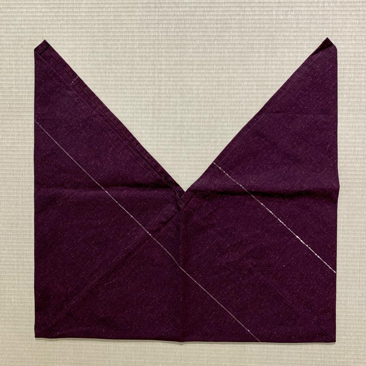 あづま袋 遠州木綿 濃紫