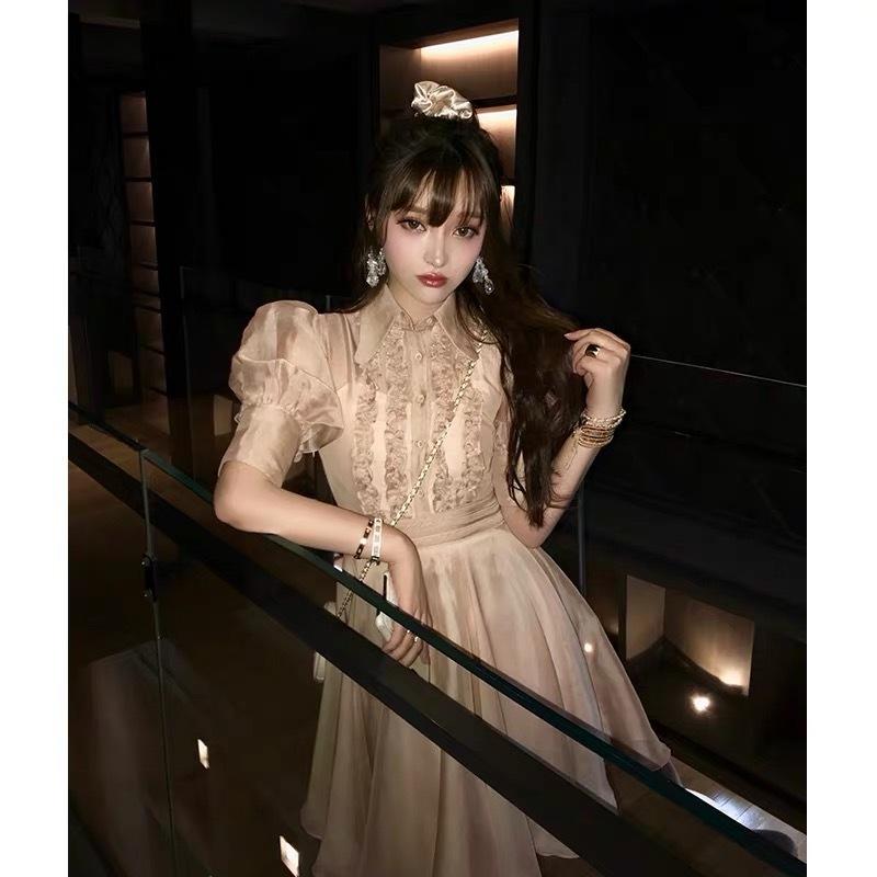 thin line frill dress