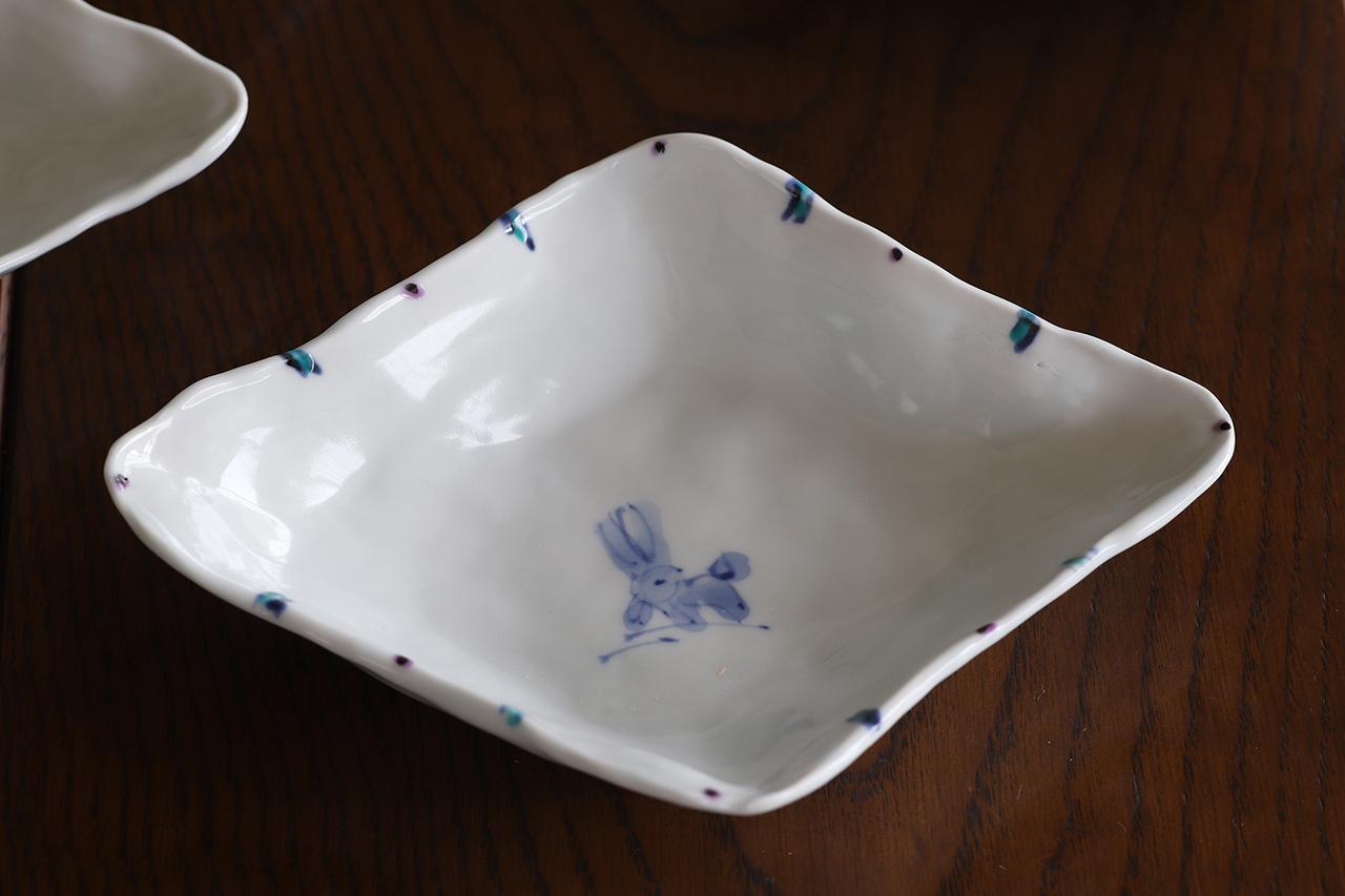 松尾貞一郎 ひし形取皿 191217-K8 貞土窯(有田焼)