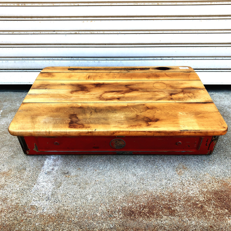 品番2451 子供用 テーブル ウッドデスク 机 脚ナシ 木箱 インテリア ディスプレイ アンティーク