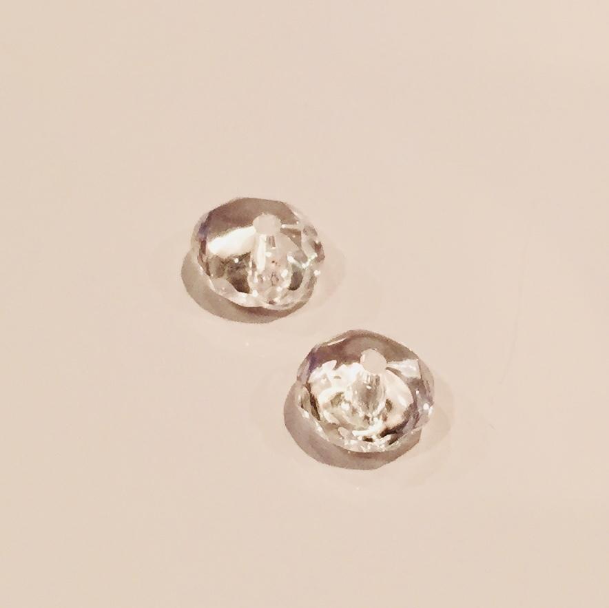 浄化の石|水晶 4×6mmカット玉|2個セット