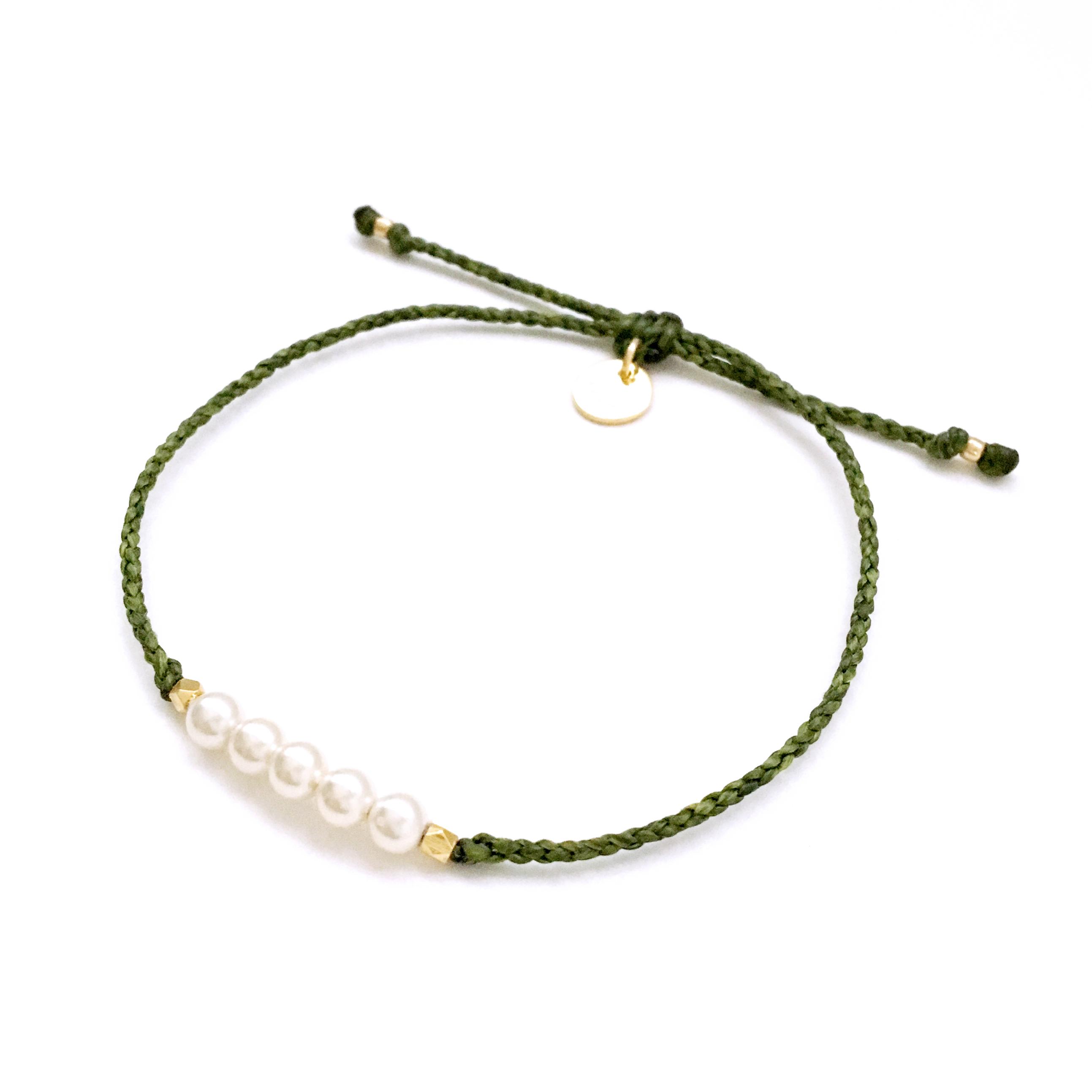 Pearl Bracelet / Khaki [パールブレスレット]