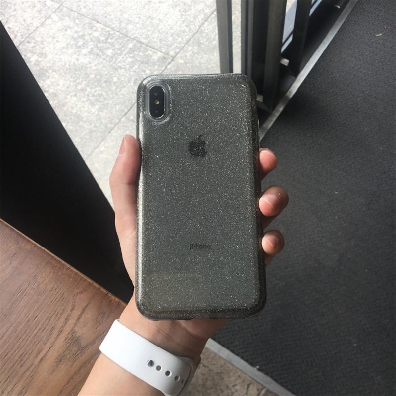 【お取り寄せ商品、送料無料】3カラー グリッター クリア ハード iPhoneケース iPhone11
