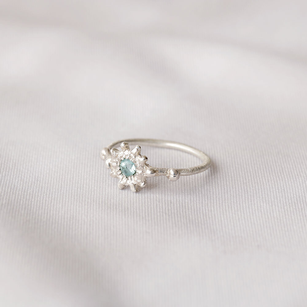 stone ring - Aquamarine