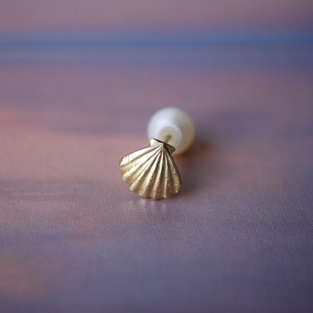 Shell K18YG ピアス
