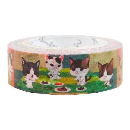 猫マスキングテープ(猫遊び)幅15mm