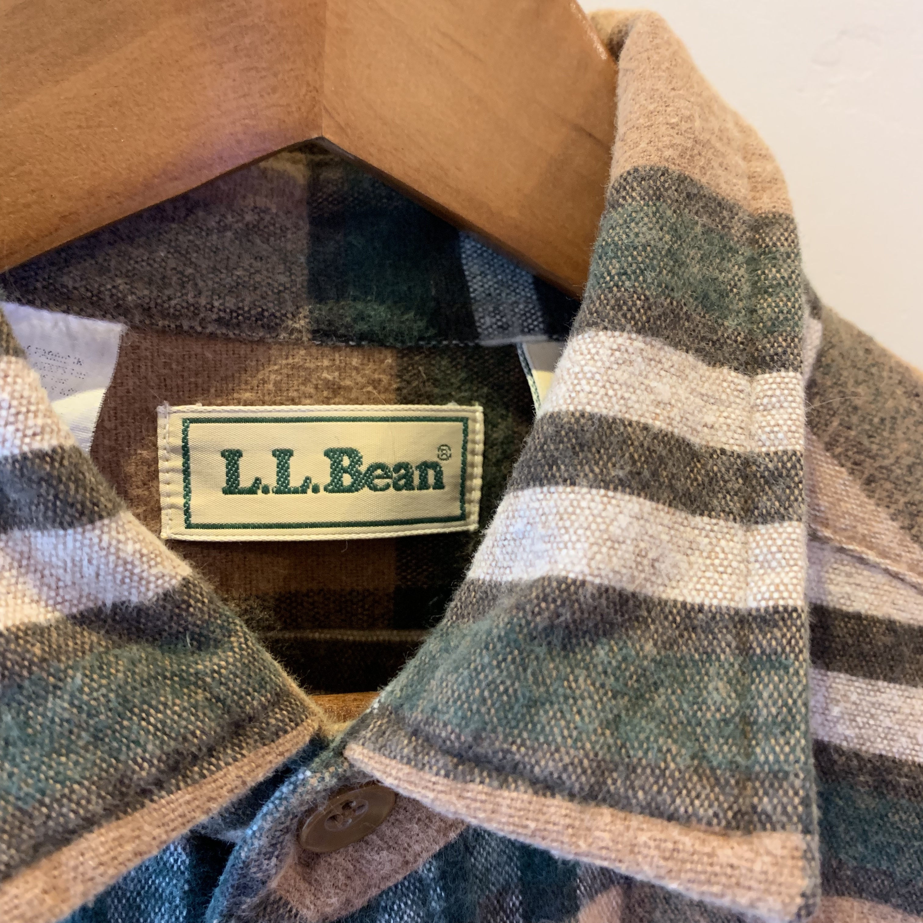 vintage LLBean check shirts