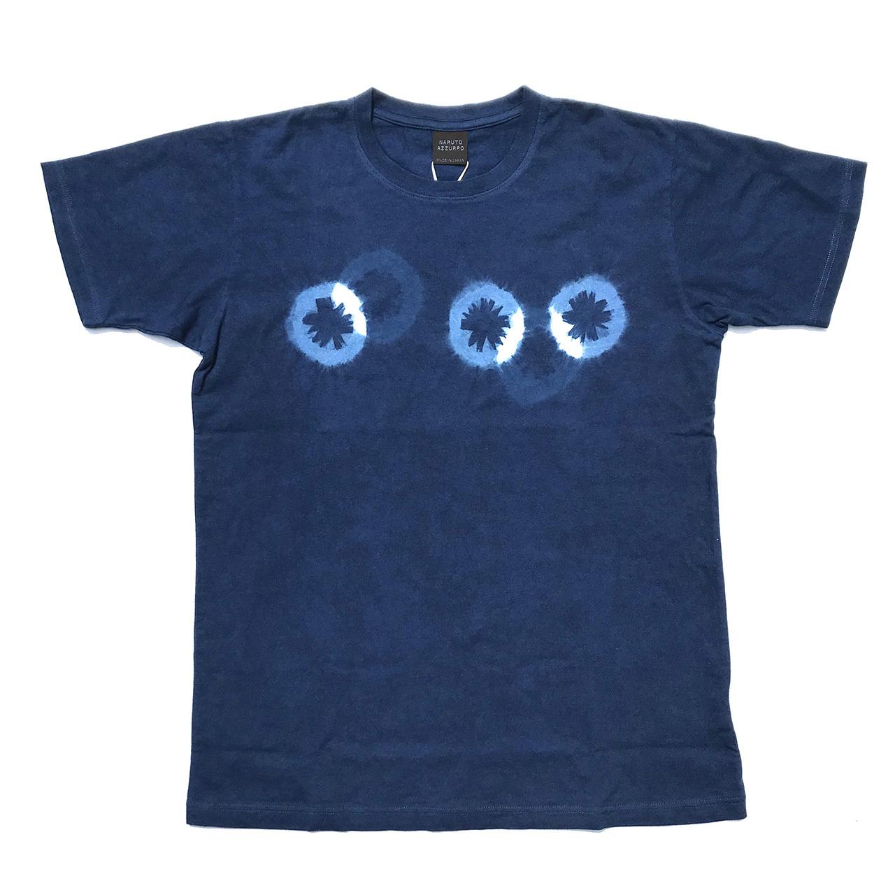 正藍染め絞り柄Tシャツ