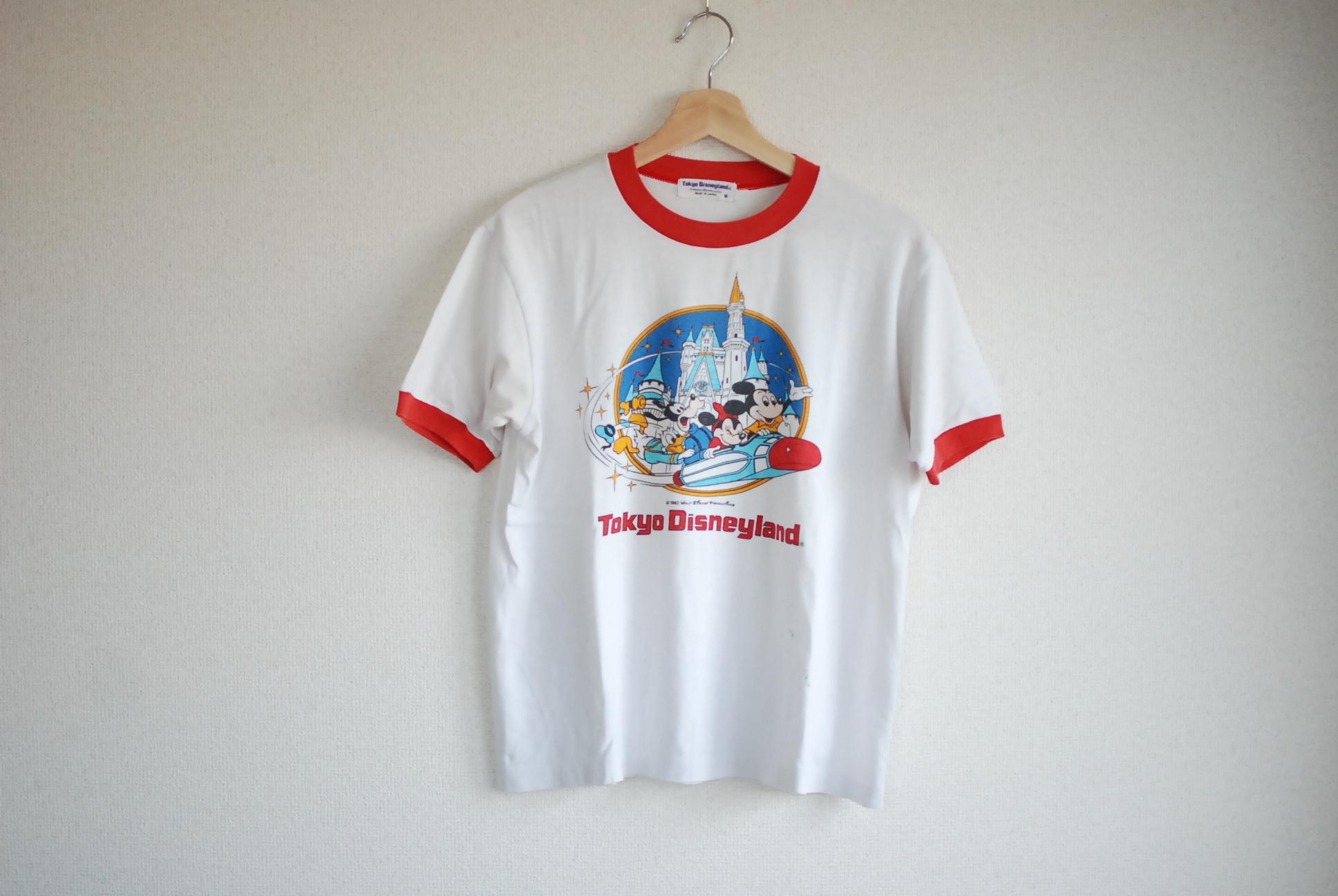 【UNISEX】VINTAGE 1982 TOKYO DISNEY LAND Ringer T-shirt