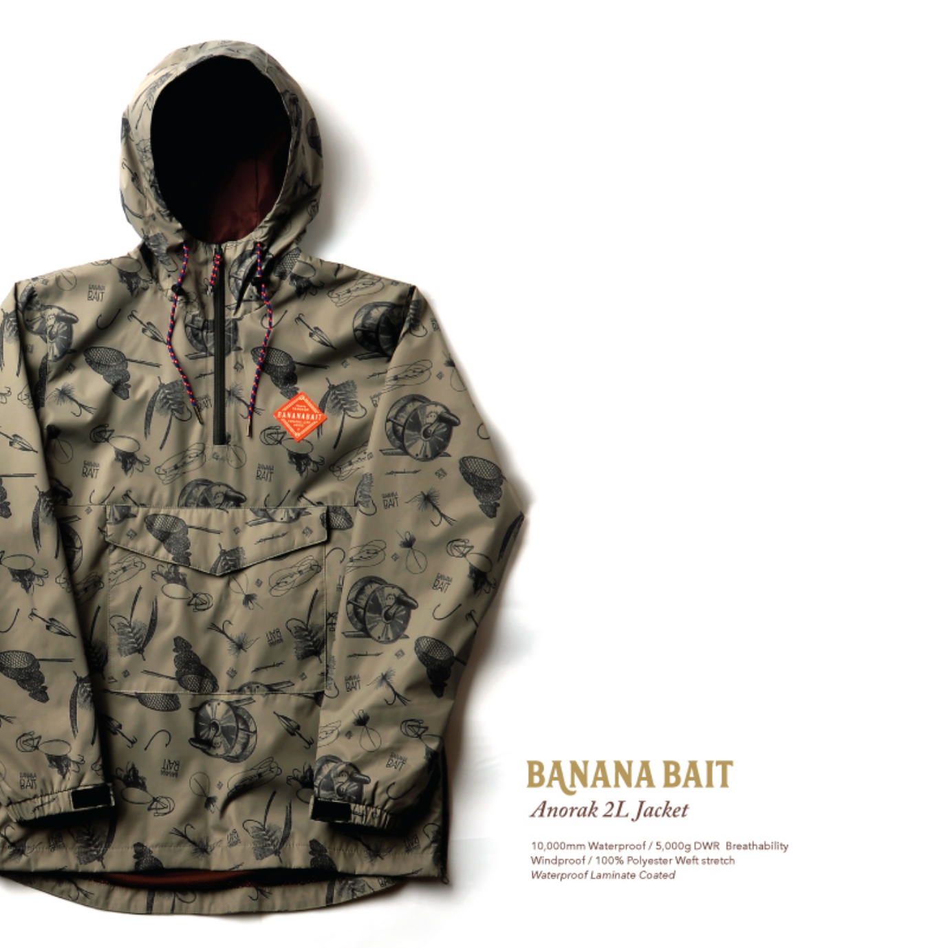 【Banana Bait】Chaac Anorak 2L Jacket / Khaki