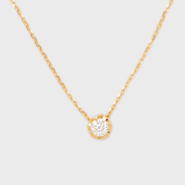 ENUOVE NOTTE Diamond Necklace K18YG(イノーヴェ ノッテ 0.3ct ダイヤモンドネックレス K18イエローゴールド スライドアジャスターチェーン)