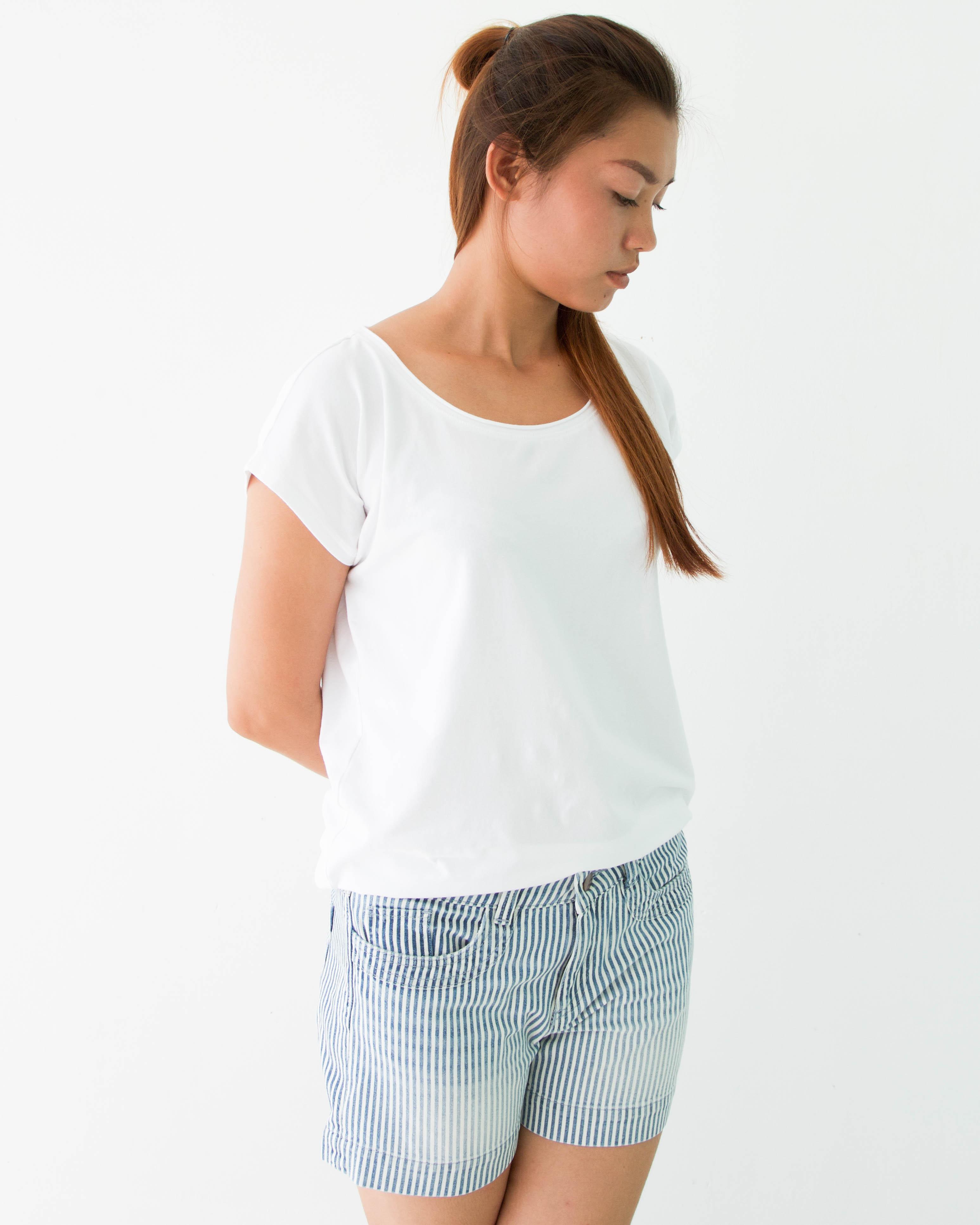 デニムショートパンツ(ヒッコリー) Denim Shorts (hickory)