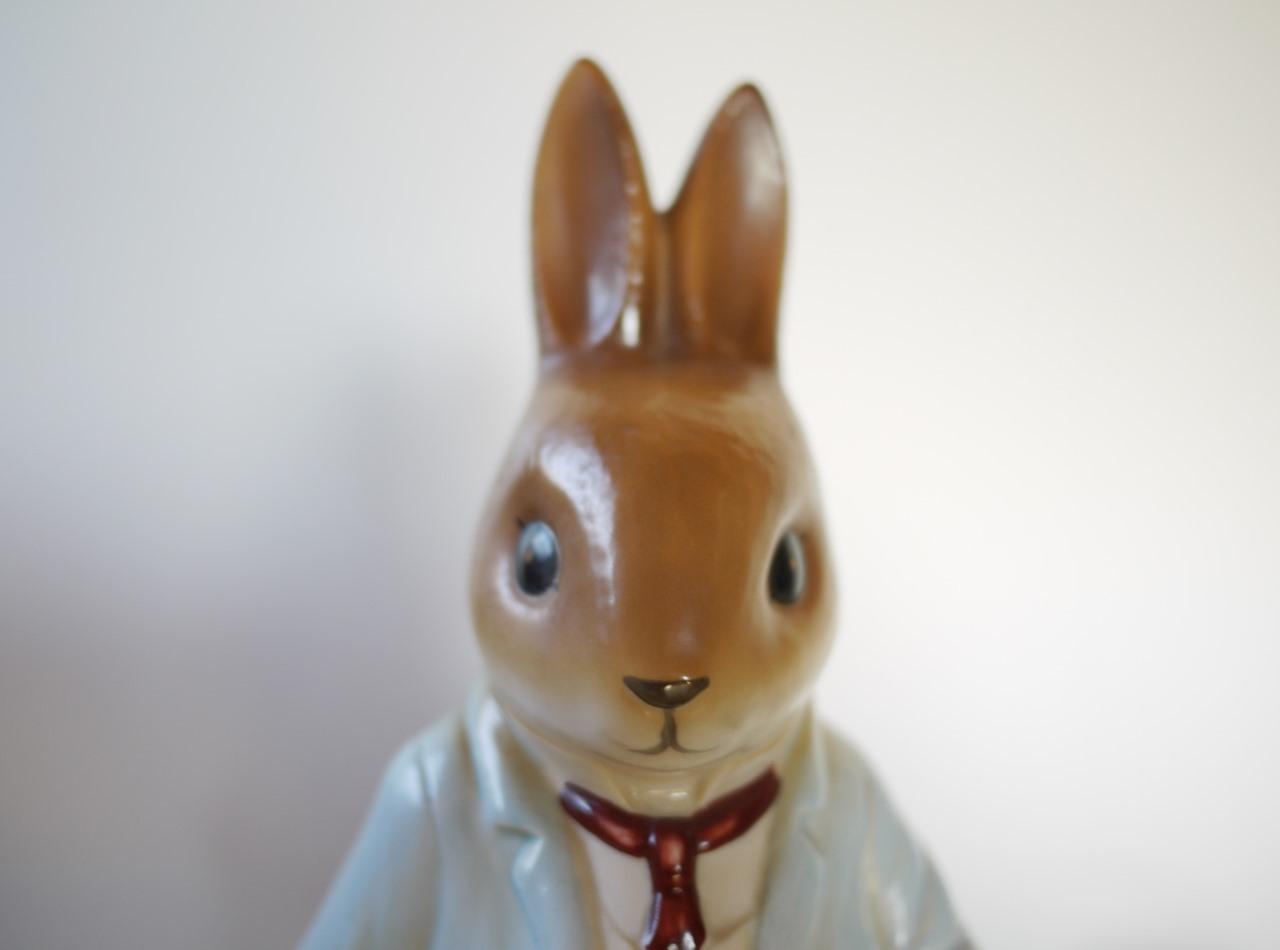 野ウサギ ヘア 磁器人形 卓上ランプ リトルグレイラビット マーガレットテンペスト