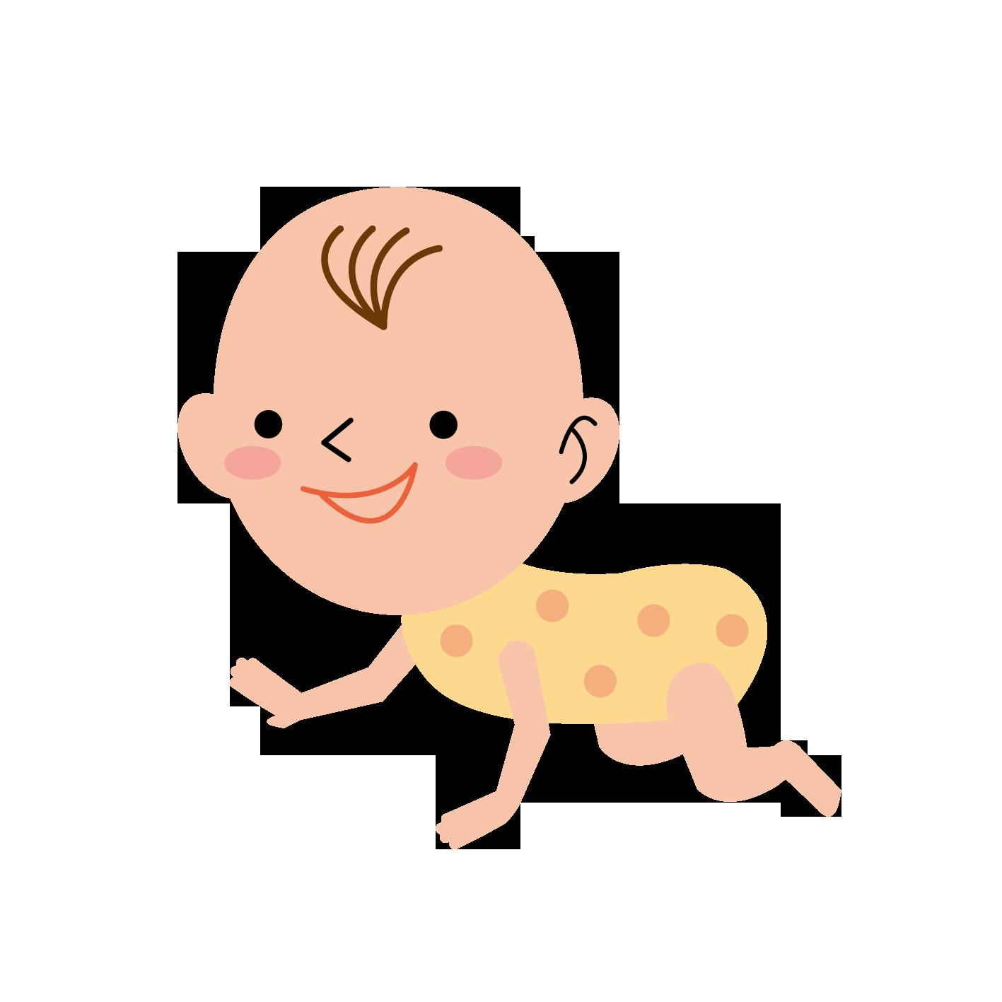 〈無料イラスト素材〉赤ちゃんの表情・ポーズいろいろ