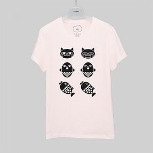 OKCAT Tシャツ PINK FRIENDS
