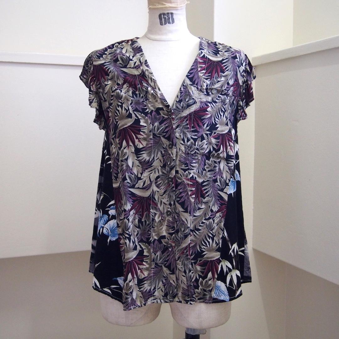 【RehersalL】aloha no sleeve blouse(F) /【リハーズオール】アロハノースリーブブラウス(F)