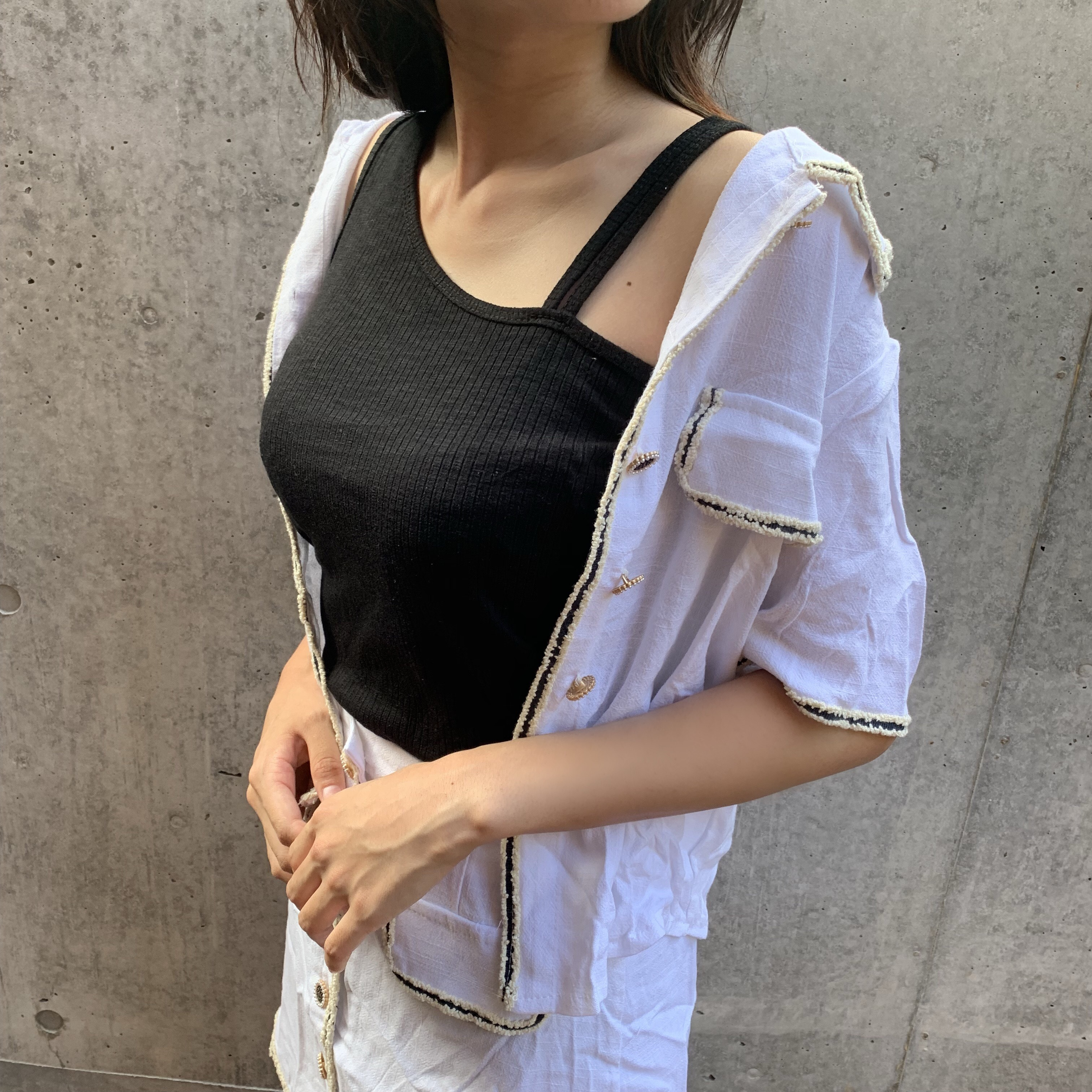 one shoulder tank top