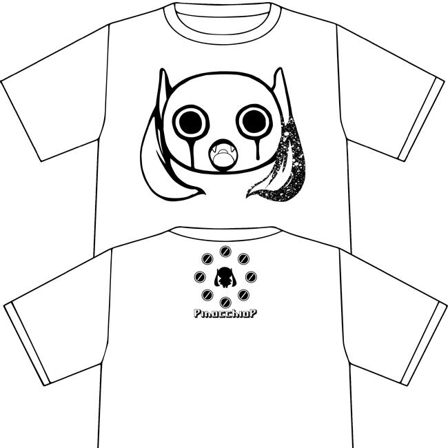 ピノキオピー 14/15 冬の半袖Tシャツ:ホワイト - 画像1