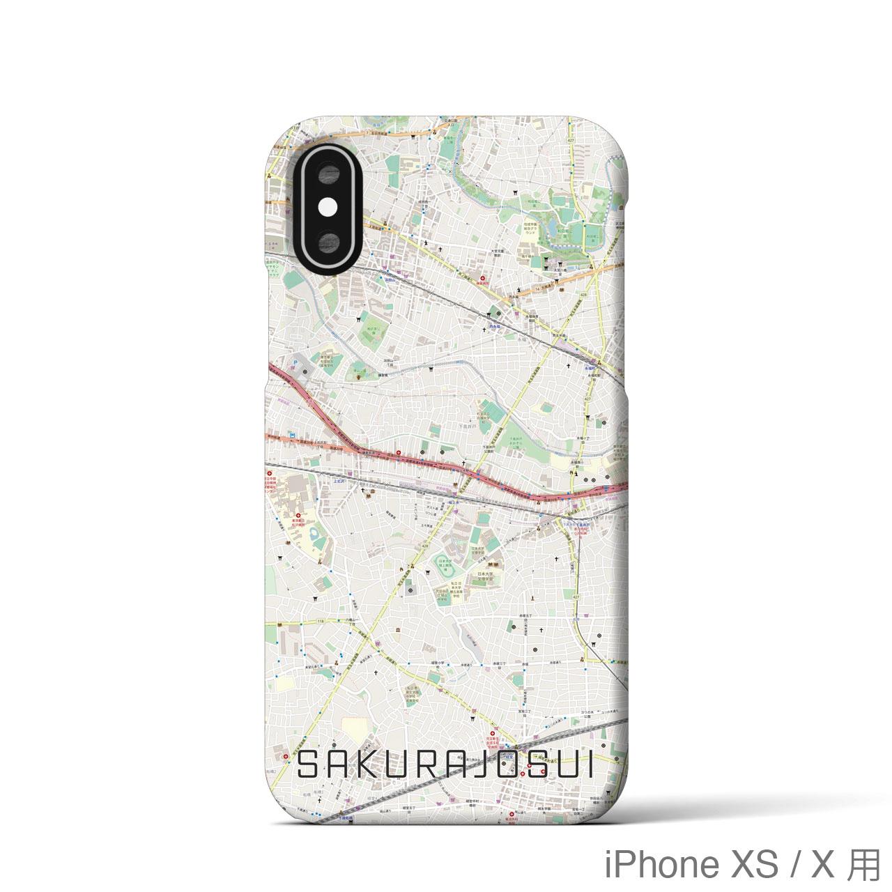 【桜上水】地図柄iPhoneケース(バックカバータイプ・ナチュラル)