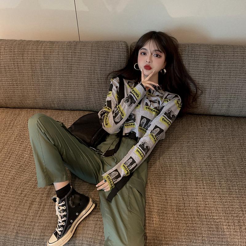【set】[単品注文]ファッション配色Tシャツ+パンツセットアップ23144347