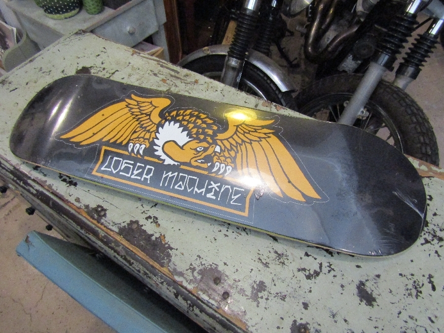 "LOSER MACHINE ALLEWAY BLACK 8.5"" DECK / SALE"