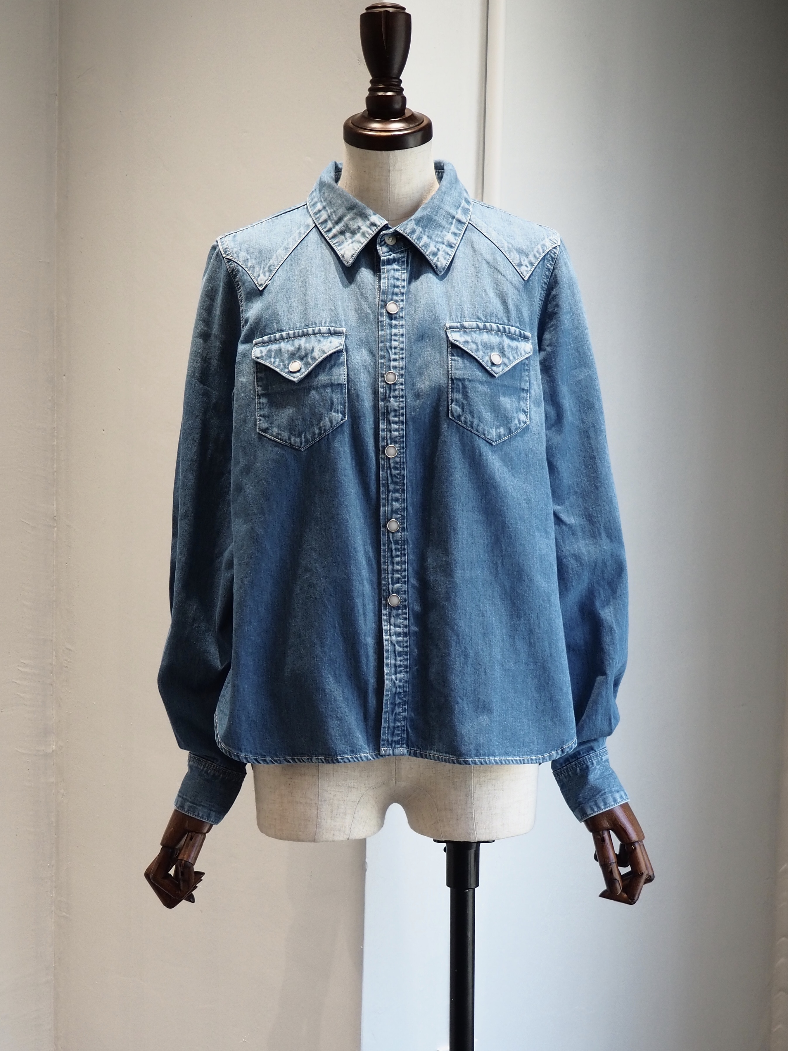 【ENLIGHTENMENT】DENIM WESTERN  SHIRT