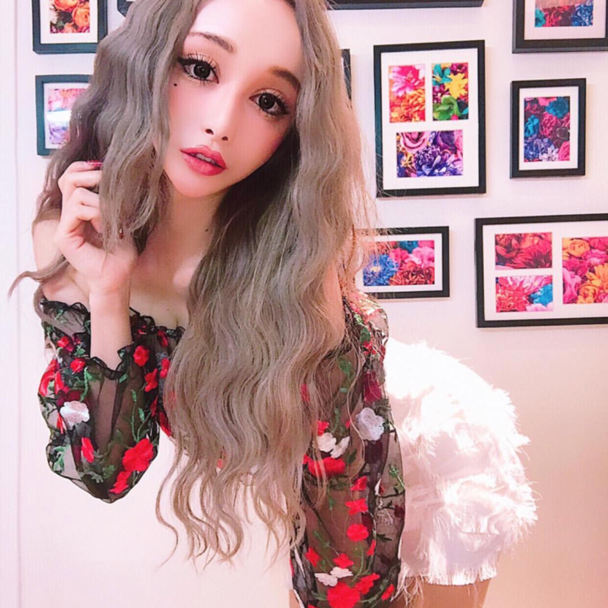 オフショル花柄刺繍シースルーチュニック/S〜XXL